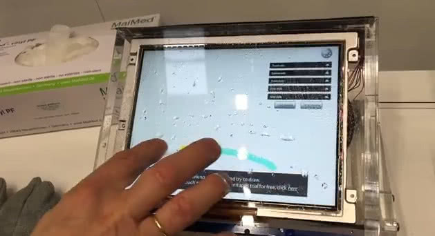 GLYN NLT TFT + PCAP touch panel + water