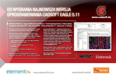 Wygraj najnowszą wersję oprogramowania Cadsoft Eagle 5.11